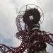 The Orbit tower from below.