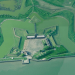 The fort from above, showing its intricate geometry. (Bing Maps)