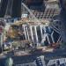 Aerial view of the Crossrail development in Farringdon opposite Smithfield Market.