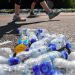 Dropped bottles after the run, by Andrew Smith