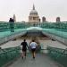 Running along Millennium Bridge, by Kath